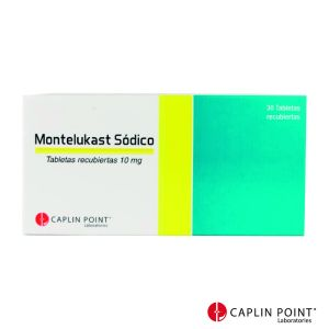 Montelukast Sódico Caplin Point Tabletas Masticables 10mg  Comprimidos recubiertos Caja x 30